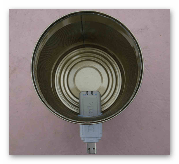Баночная антенна для модема