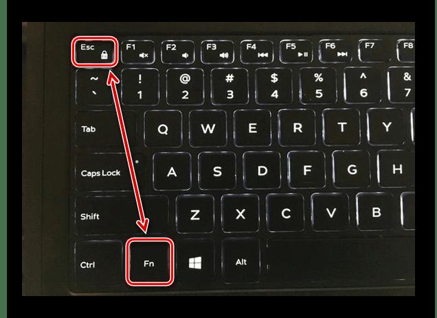 Использование клавиши с замочком на клавиатуре