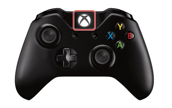 Использование кнопки Xbox на джойстике Xbox One