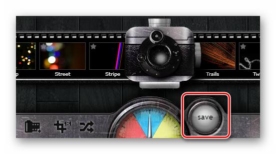 Кнопка для экспорта фотографии из онлайн-сервиса Pixlr-o-matic
