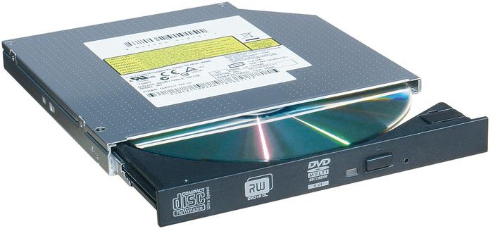 Наклейка на дисководе ноутбука с форматами