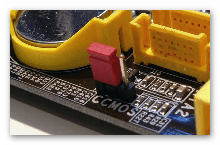 Перемычка на материнской плате для сброса настроек BIOS