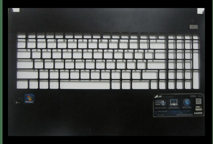 Успешное извлеченная клавиатура на ноутбуке ASUS