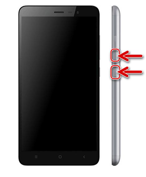 Xiaomi Redmi Note 3 PRO переключение аппарата в режим FASTBOOT