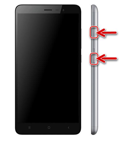 Xiaomi Redmi Note 3 PRO переключение в среду восстановления (рекавери)