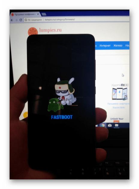 Xiaomi Redmi Note 3 PRO в режиме FASTBOOT