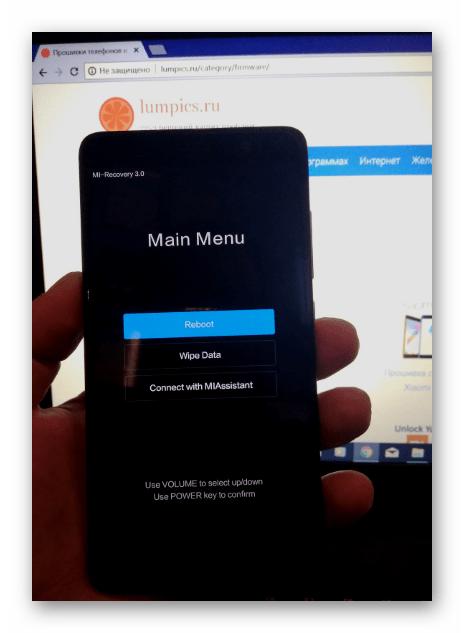 Xiaomi Redmi Note 3 PRO в режиме заводского рекавери