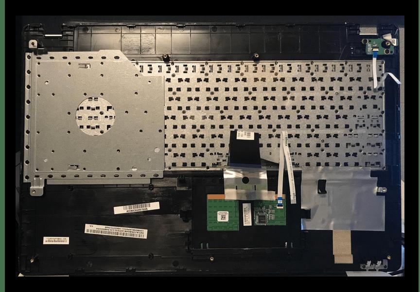 Закрепление встроенной клавиатуры на ноутбуке ASUS