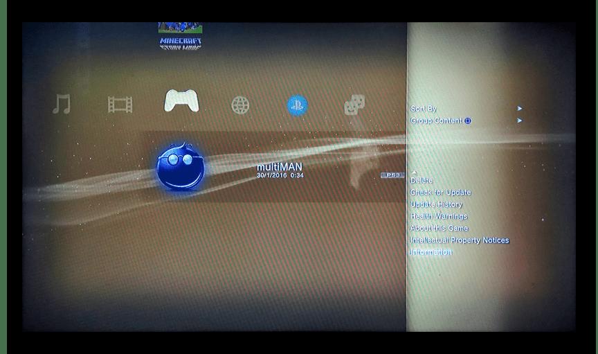 Запуск multiMAN на PS3