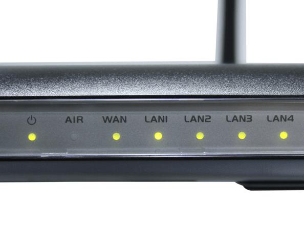 ASUS RT-N10 светодиодные индикаторы на передней панели роутера