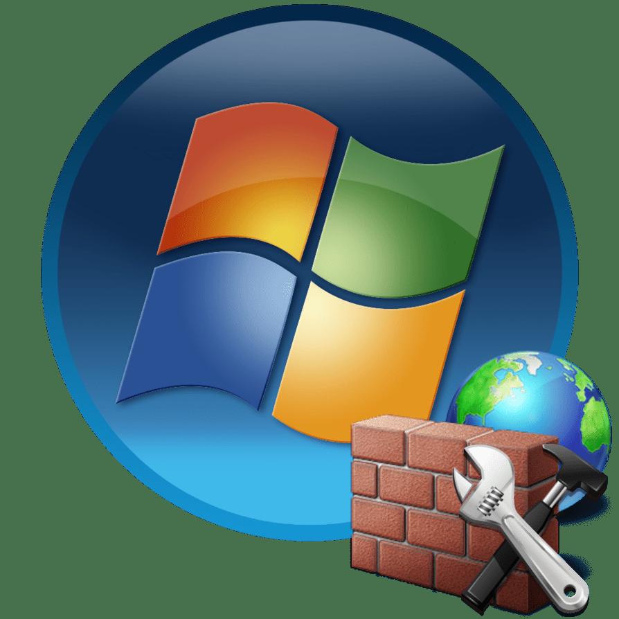 Настройки брандмауре на компьютере с Windows 7
