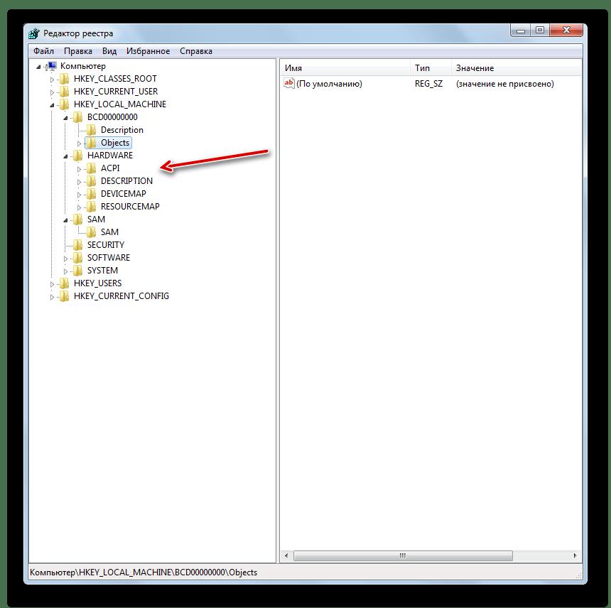 Навигация по Редактору системного реестра в Windows 7