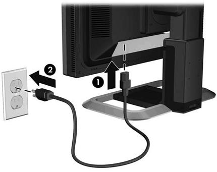 Подключение монитора к сети