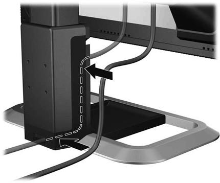 Прокладка кабелей для монитора