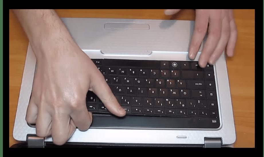 Снятие клавиатуры с ноутбука HP G62