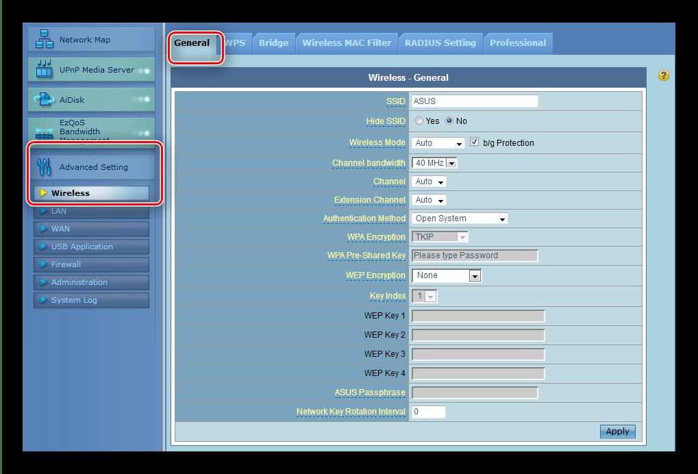 Доступ к настройкам Wi-Fi роутера ASUS RT-G32