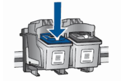 Извлечь картридж из принтера HP