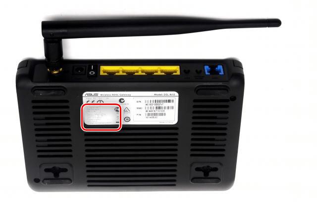 Наклейка с данным для входа в интерфейс asus rt-n10
