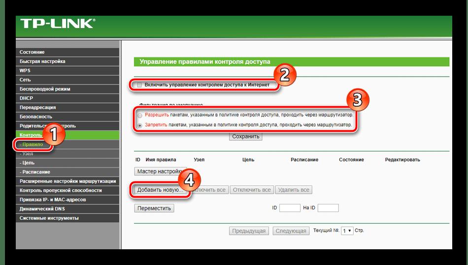 Настройка контроля доступа на роутере TP-Link TL-MR3420