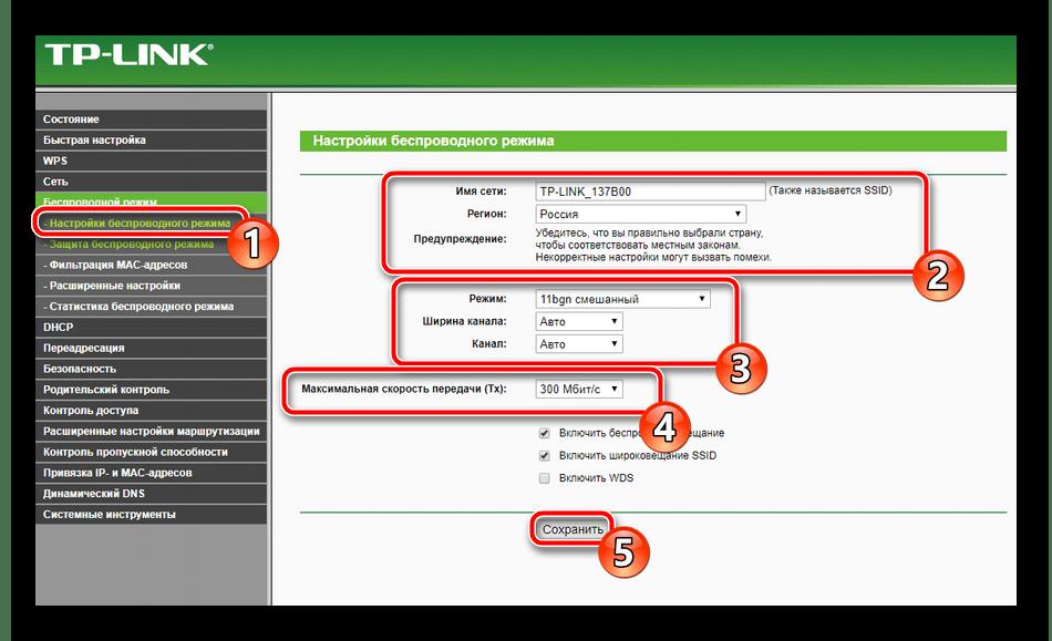 Основные параметры беспроводной сети роутера TP-Link TL-MR3420