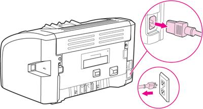 Отключить принтер HP от сети