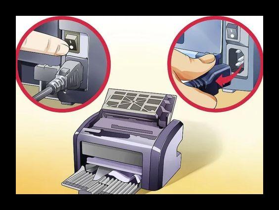 Отключить принтер от электросети