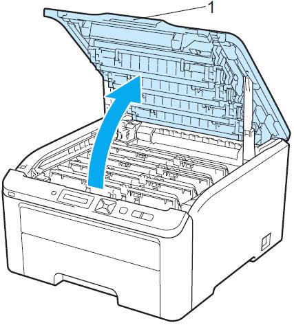 Открыть крышку принтера Brother