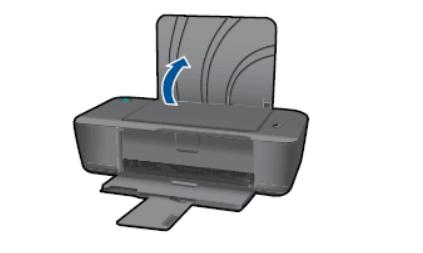 Открыть вернюю крышку лотка бумаги HP