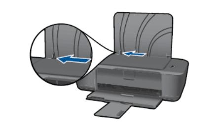 Отодвинуть ширину бумаги в принтере HP