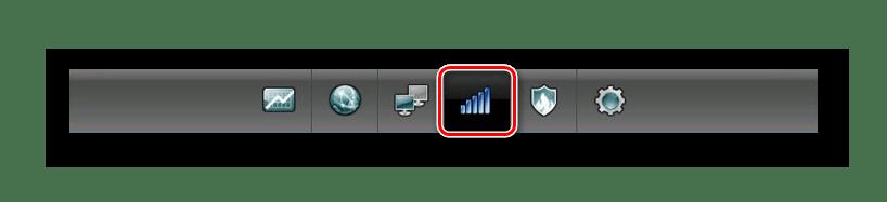 Переход на вкладку сеть Wi-Fi на роутере Zyxel Keenetic