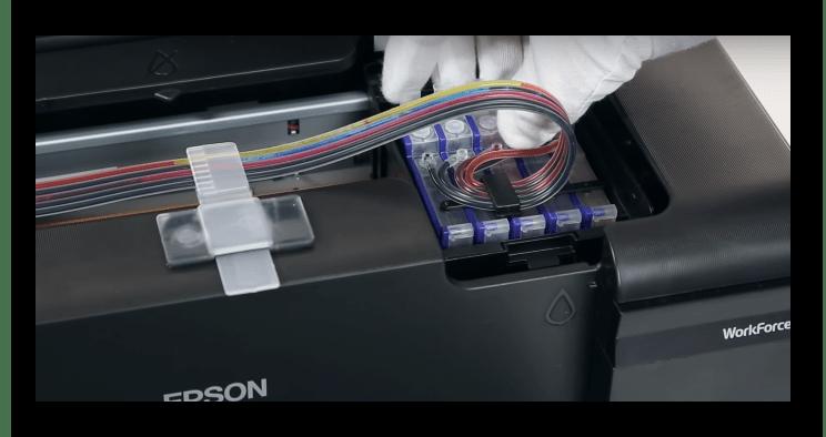 Перевод принтера в режим замены картриджа