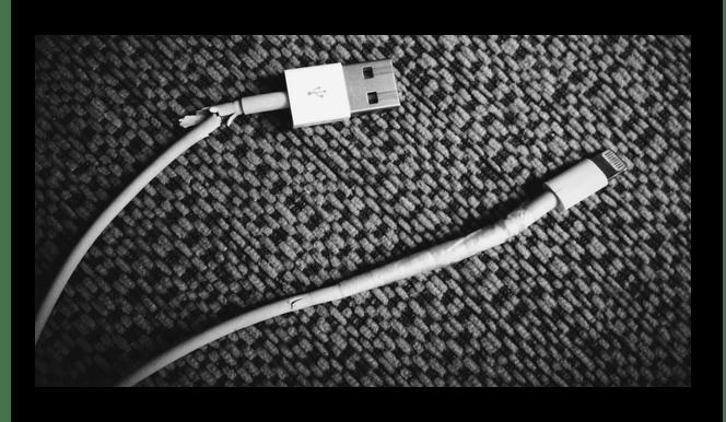 Пример поврежденного USB-кабеля
