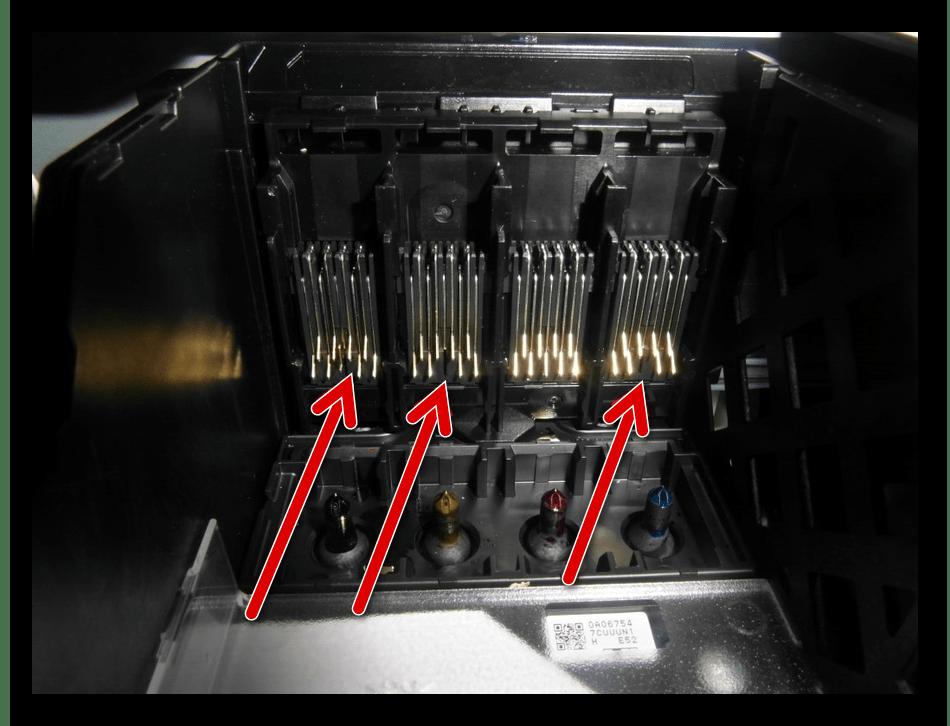 Проверка контактов на принтере