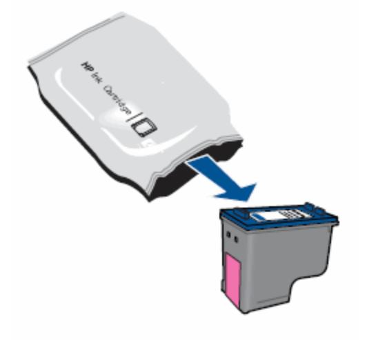 Распаковать картридж принтера HP