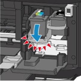 Снять держатель картриджа принтера Canon