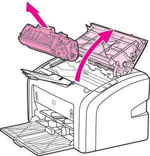 Снять картридж с принтера HP