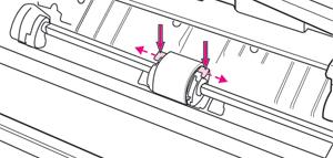 Снять крепления ролика захвата принтера HP