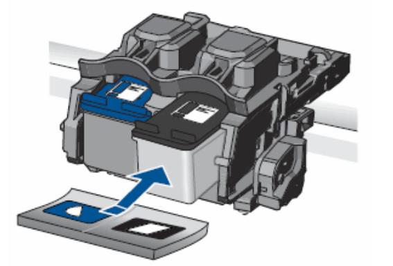 Установить новый картридж в принтер HP