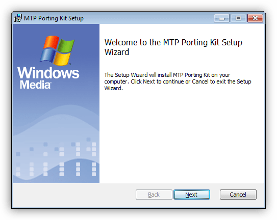 Установка Media Transfer Protocol Porting Kit в Windows 7