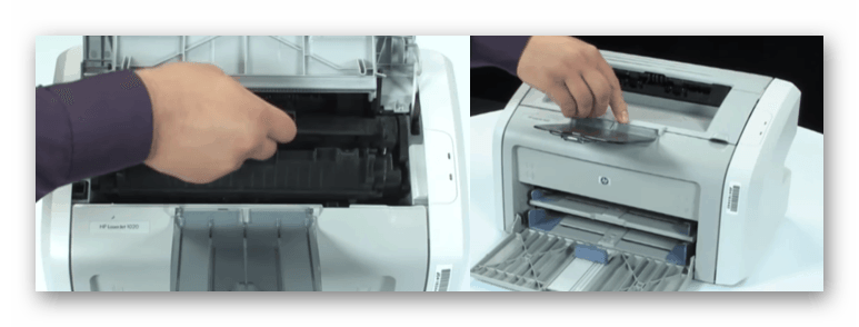 Установка картриджа принтера