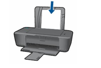 Вставить бумагу в принтер HP