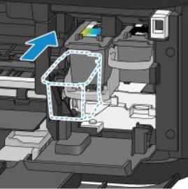 Вставить новый картридж в принтер Canon