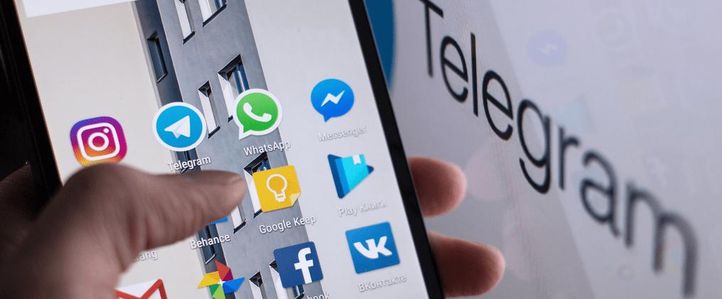 Выход из мобильного приложения Telegram на смартфоне с Android