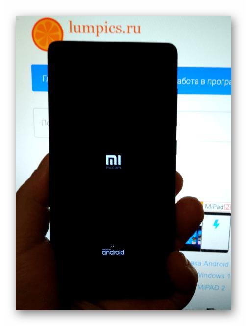 Xiaomi Redmi 3 (PRO) первая загрузка после прошивки через MiFlash в режиме EDL