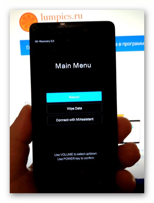 Xiaomi Redmi 3 Pro заводская среда восстановления (рекавери) смартфона