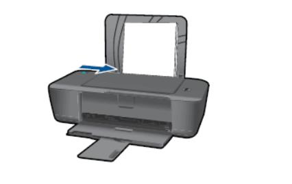 Закрепить бумагу в принтере HP