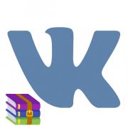Как отправить архив ВКонтакте