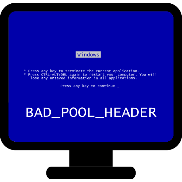 Ошибка «Bad_Pool_Header» в Windows 7