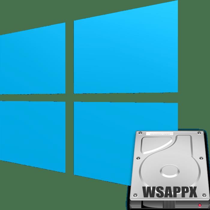 Процесс WSAPPX грузит диск на Windows 10