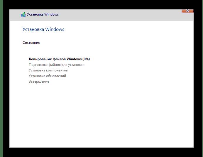 Процесс чистой установки ОС Windows 10
